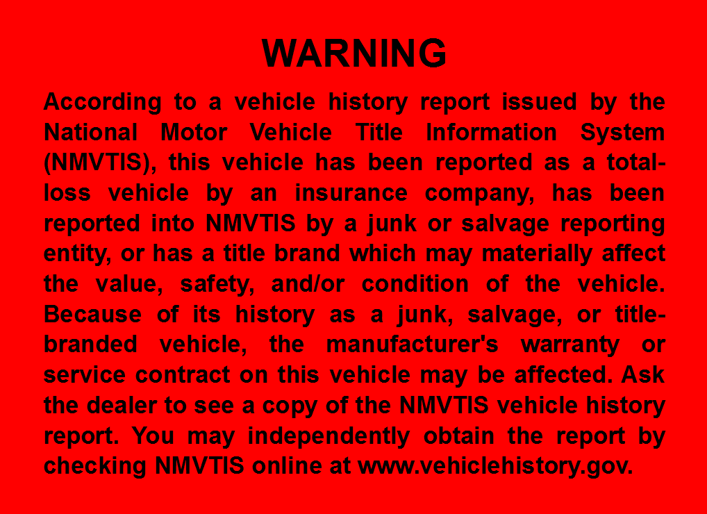 Nmvtis Report For Used Car Dealer