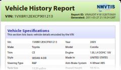 vinaudit com official site vin check vehicle history report