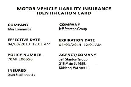 Proof Of Auto Insurance Card Enough For Car Registration